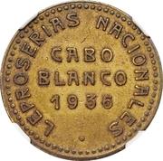 2 bolívar (léproserie de Cabo Blanco) – avers