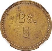 5 Bolívares (Cabo Blanco Leper Colony) – revers