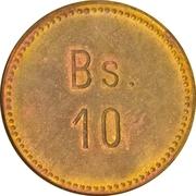 10 bolívar (léproserie de Cabo Blanco) – revers