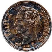 25 centimos (argent avec marque d'atelier) – revers