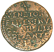 Siège de Famagouste 1570 - Besant au lion de Venise – revers