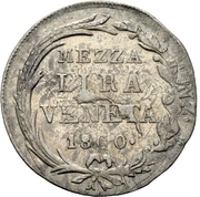 1/2 Lira - Franz II – revers