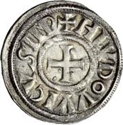 1 Denaro - Ludovico I – avers