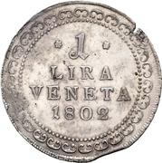 1 Lira - Franz II – avers