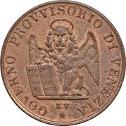 5 centesimi (Révolution) – avers