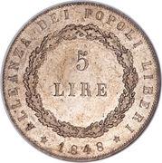 5 lire (type 2) – revers