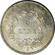 """5 lire (""""DIO BENEDETE L'ITALIA"""") – revers"""