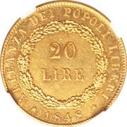 20 lire – revers