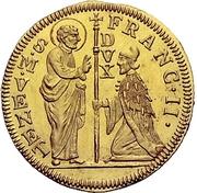 1 Zecchino - Franz II (Christ with globe) – avers