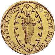 1 Zecchino - Franz II (Christ with globe) – revers