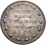 1 osella - Lodovico Manin (Double Weight) – revers