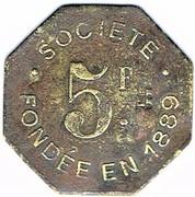 5 Francs - Société de Consommation de l'Est - Verdun (55) – revers