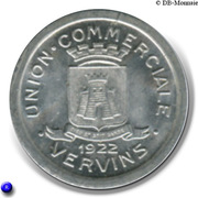 10 Centimes Union Commerciale - Vervins [02] – avers