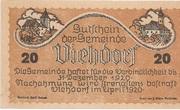 20 Heller (Viehdorf) – avers