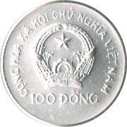 100 dong (Coupe du monde de football Mexique 1986) – avers