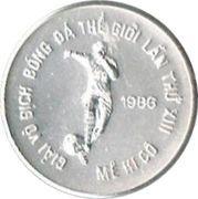 100 dong (Coupe du monde de football Mexique 1986) – revers