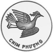 5 dong (Phénix; argent) – revers