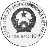 100 dong (préservation des éléphants) – avers