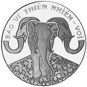 100 dong (préservation des éléphants) – revers
