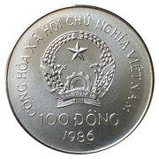 100 dong (Jeux olympiques Séoul 1988) – avers