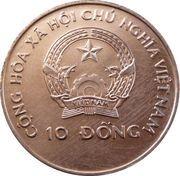 10 dong (coupe du monde de football États-Unis 1994) – avers