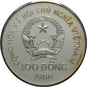 100 dong (éléphant) – avers
