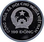 100 dong (Jeux olympiques d'hiver Albertville 1992) – avers