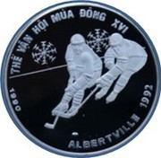 100 dong (Jeux olympiques d'hiver Albertville 1992) – revers