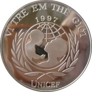 100 dong (UNICEF) – avers