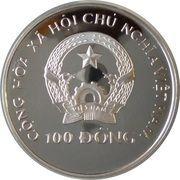 100 dong (Coupe du monde de football Italie 1990) – avers