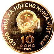 10 dong (pagode) – avers
