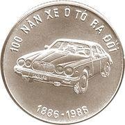 100 dong (100 ans de l'automobile) – revers
