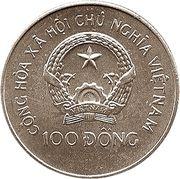 100 dong (Championnat d'Europe de football Allemagne 1988) – avers