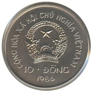 10 dong (paon) – avers