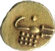 1 Fanam - Madakari Nayaka II (1652–1674) – revers