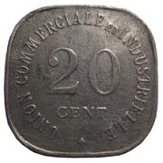 20 centimes - Union Commerciale et Industrielle - Vincennes [94] – revers