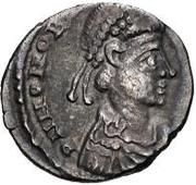 1 siliqua au nom de Honorius Narbonne – avers