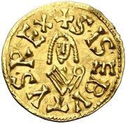 Tremissis Sisebut Caesaraugusta – avers