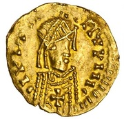 Tremissis au nom de Justinien – avers