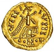 Tremissis au nom de Justinien – revers