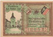 20 Heller (Vöcklabruck) – avers