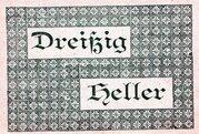 30 Heller (Vorderstoder) -  revers