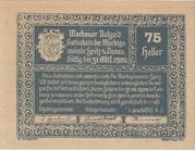 75 Heller (Wachau - Spitz) – avers