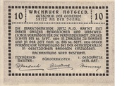 10 Heller (Wachau - Spitz) – revers