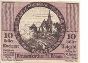10 Heller (Wachau - Weissenkirchen) – avers