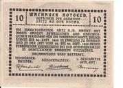10 Heller (Wachau - Weissenkirchen) – revers