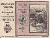 10 Heller (Wachau) – avers