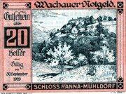 20 Heller (Wachau - Ranna-Mühldorf; Red issue) -  avers