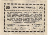 20 Heller (Wachau - Ranna-Mühldorf) – revers