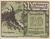 20 Heller (Wachau - Aggstein) – avers
